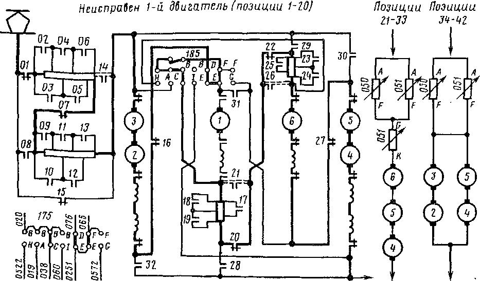 Схема прохождения тока по