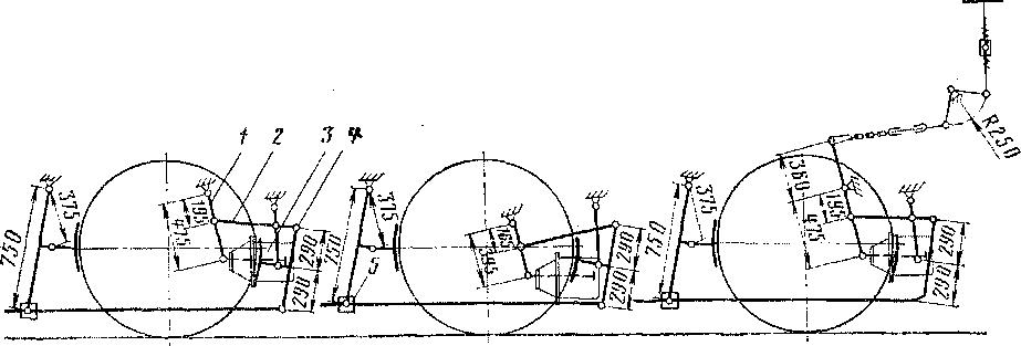 Схема рычажной передачи