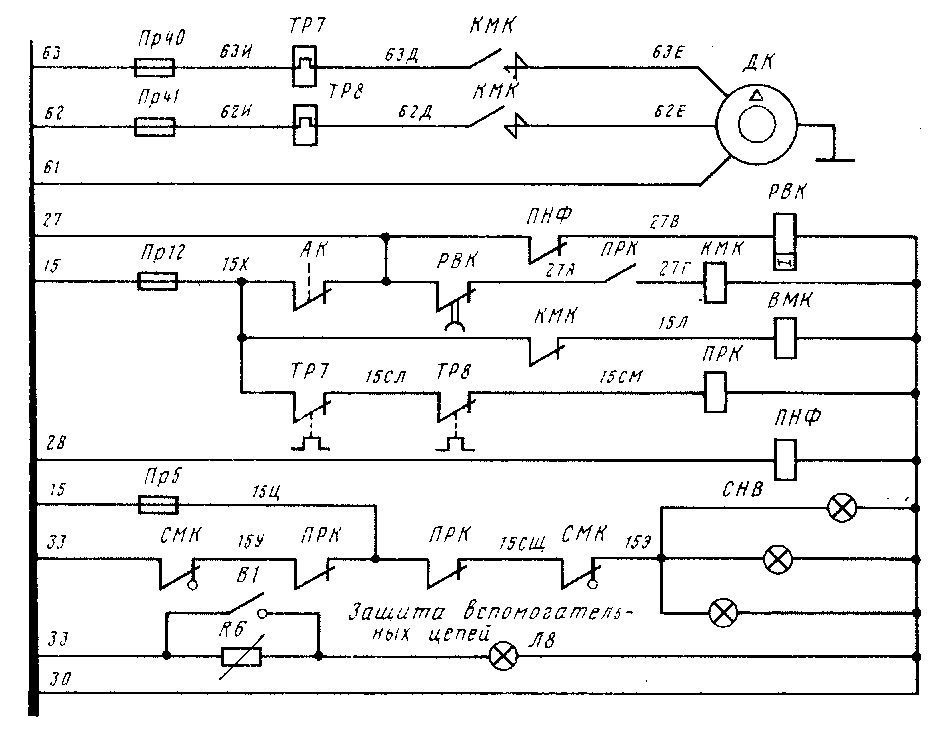 Схема управления двигателями