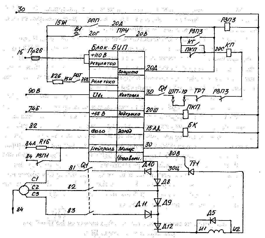 Реле РЗПЗ отключает схему