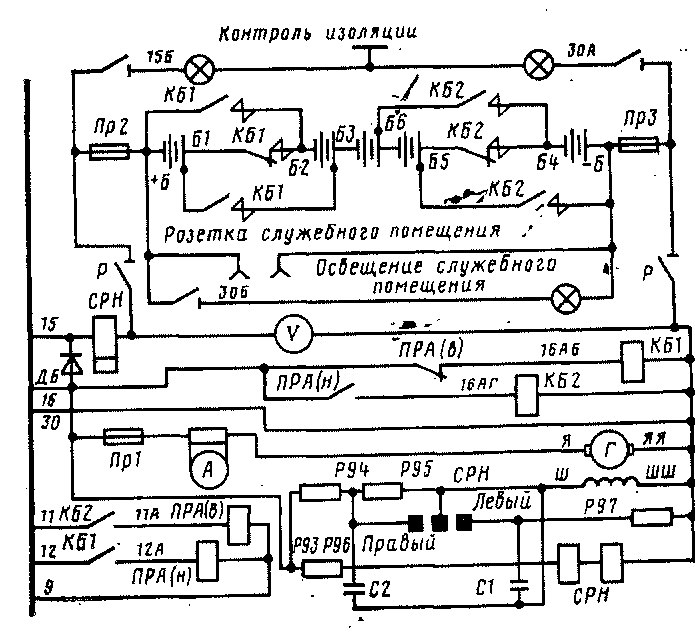 Схема цепей генератора